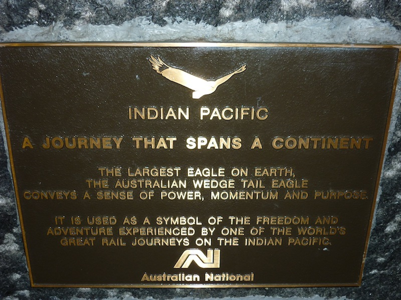 Indian Pacific Zugfahrt, Australien - April 2010