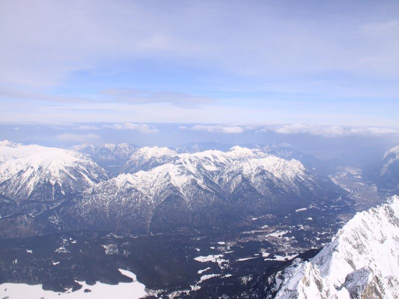 Kurz-Urlaub an der Zugspitze, Deutschland - März 2009