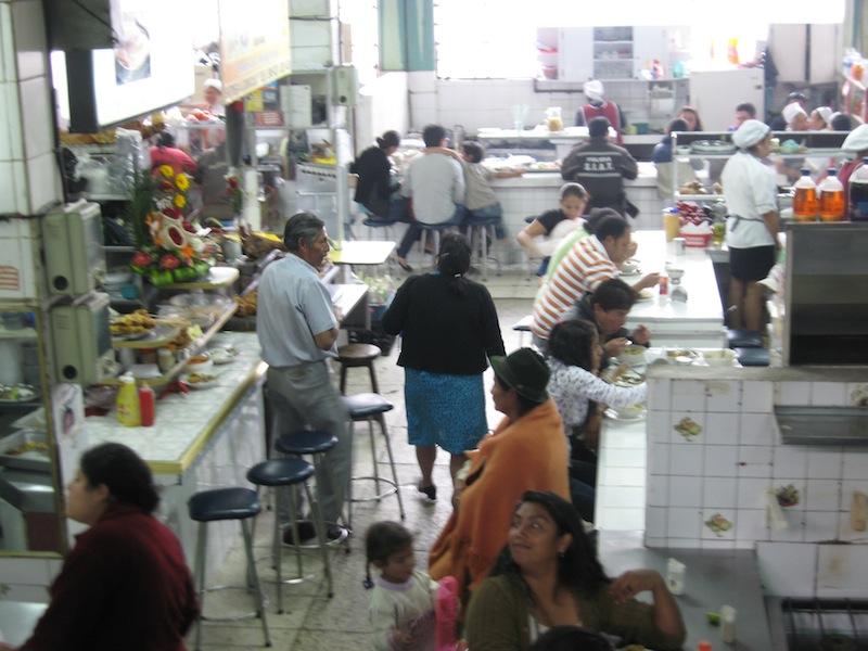 Markt in Quito, Ecuador - Juli 2009