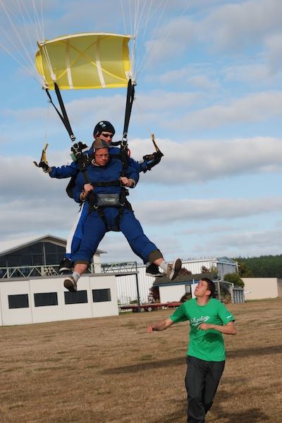 Skydiving in Taupo, Neuseeland - März 2010