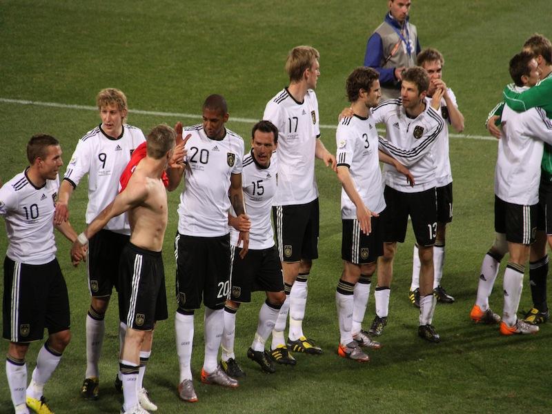 Die deutsche Mannschaft nach dem Sieg gegen England