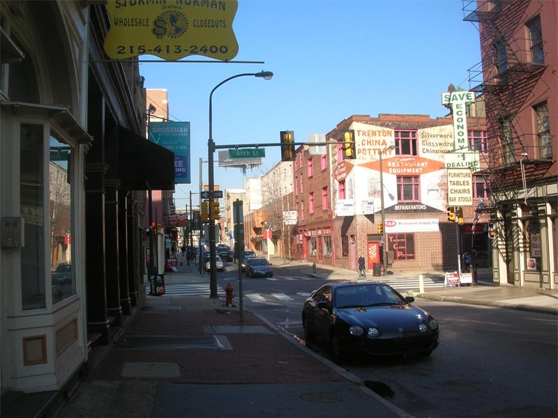 Die Arch Street in Philadelphia, USA