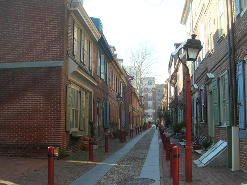 Die Elfreths Alley in Philadelphia, USA