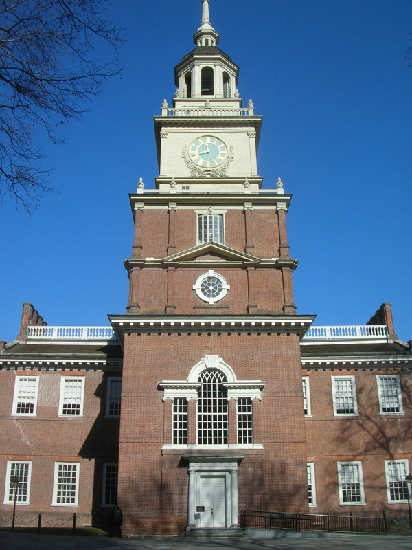 Die Independence Hall in Philadelphia, USA