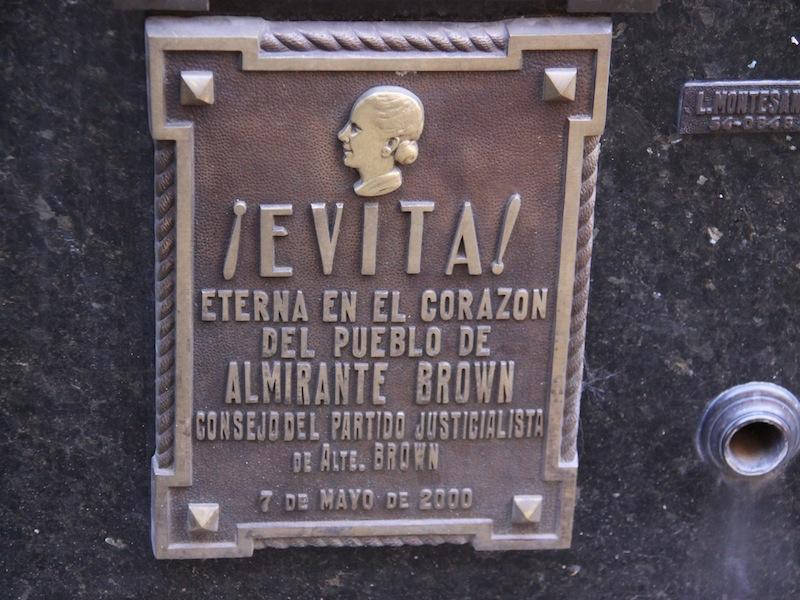 Das Grab von Evita in Buenos Aires, Argentinien - Januar 2010