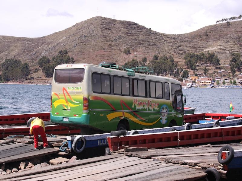 Die Busfahrt von Copacabana nach Lap Paz in Bolivien - Dezember 2009