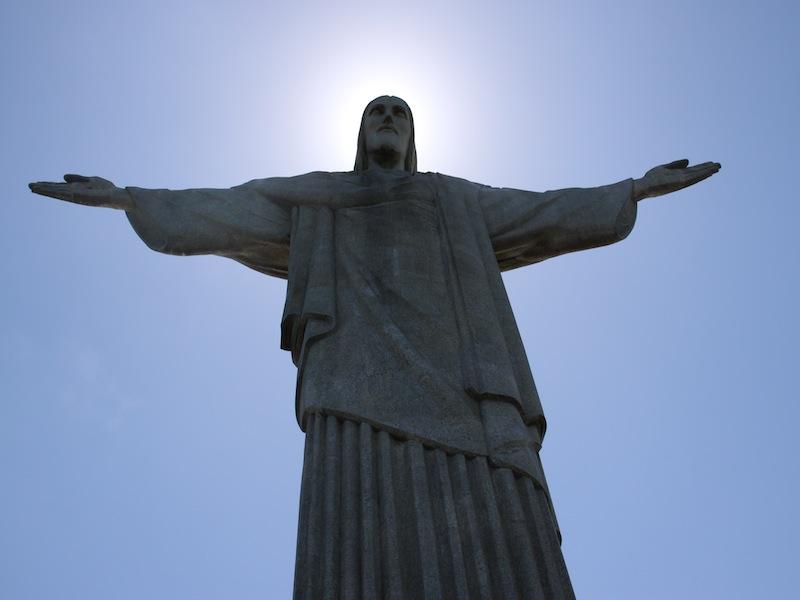 Die Jesus Statue in Rio de Janeiro, Brasilien - Dezember 2009