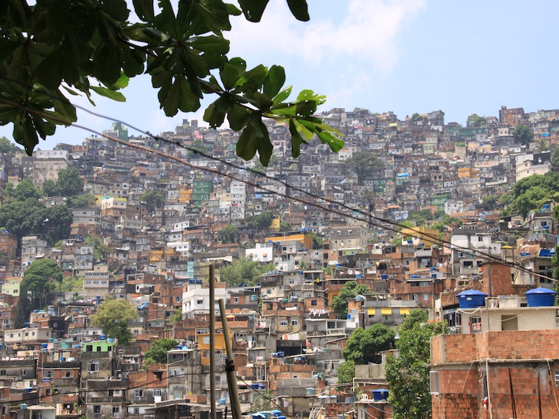Das Favela Rocinha in Rio de Janeiro, Brasilien - Dezember 2009