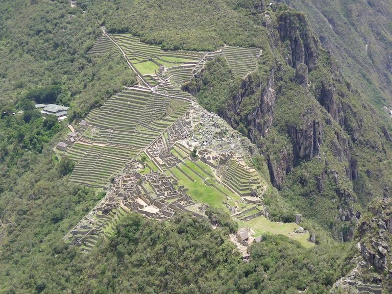 Machu Picchu von Waynapicchu gesehen, Peru - Dezember 2009